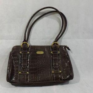 Womens ROSETTI shoulder purse - Brown - Zips!